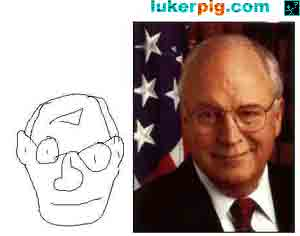 Dick Cheney and a bad paint picture of him