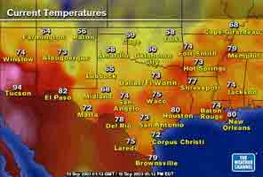 weather map of texas
